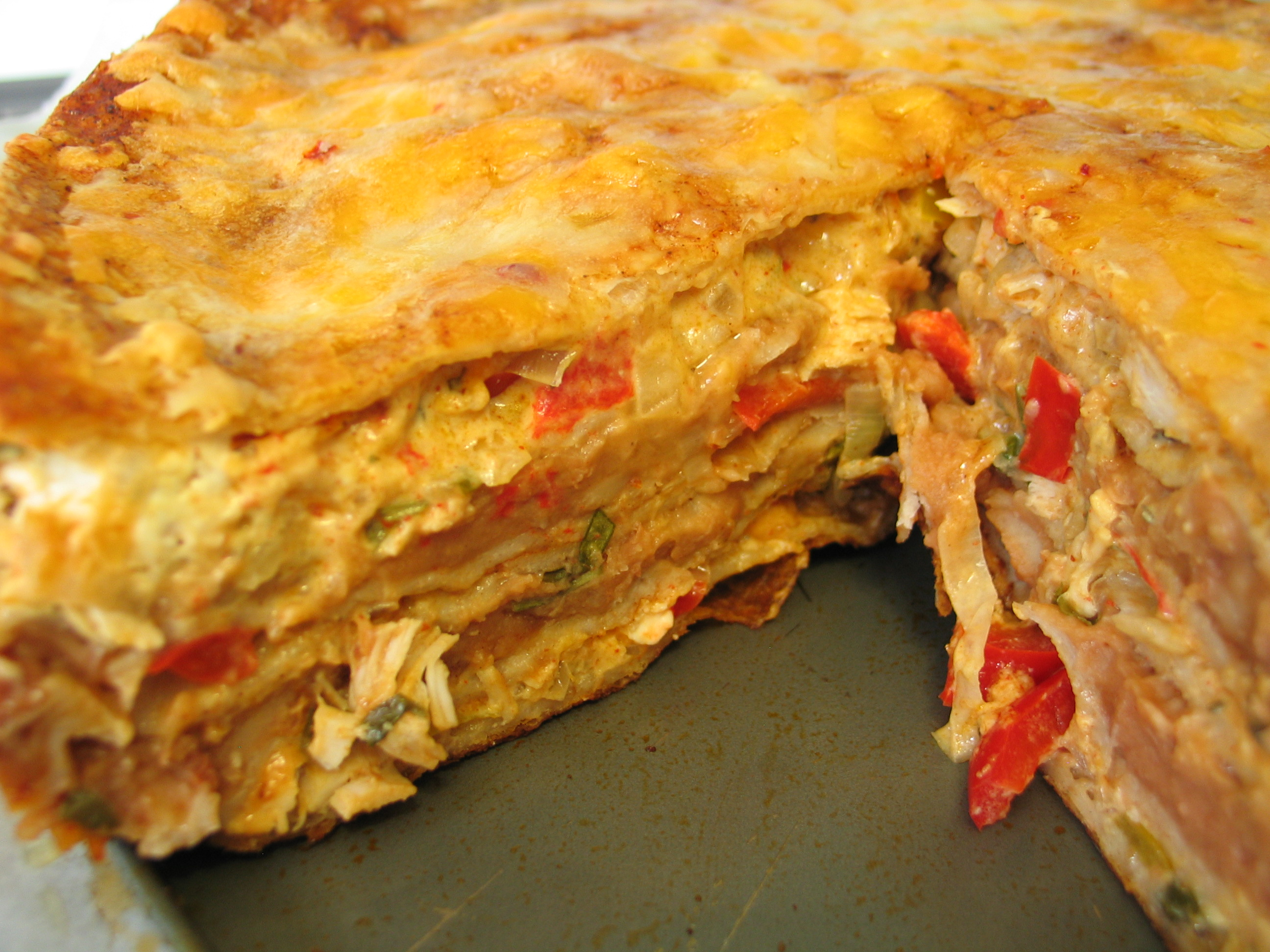 Deanna S Daughter Chicken Tortilla Pie