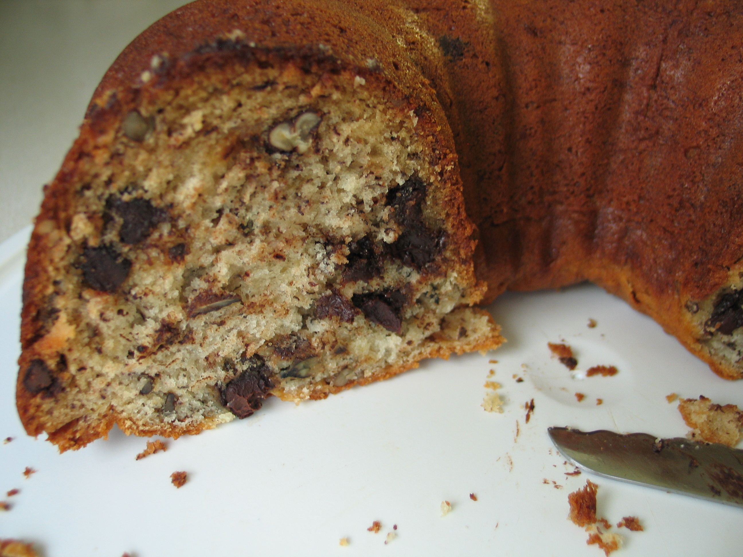 Deannas Daughter Banana Chocolate Chip Pecan Bundt Cake