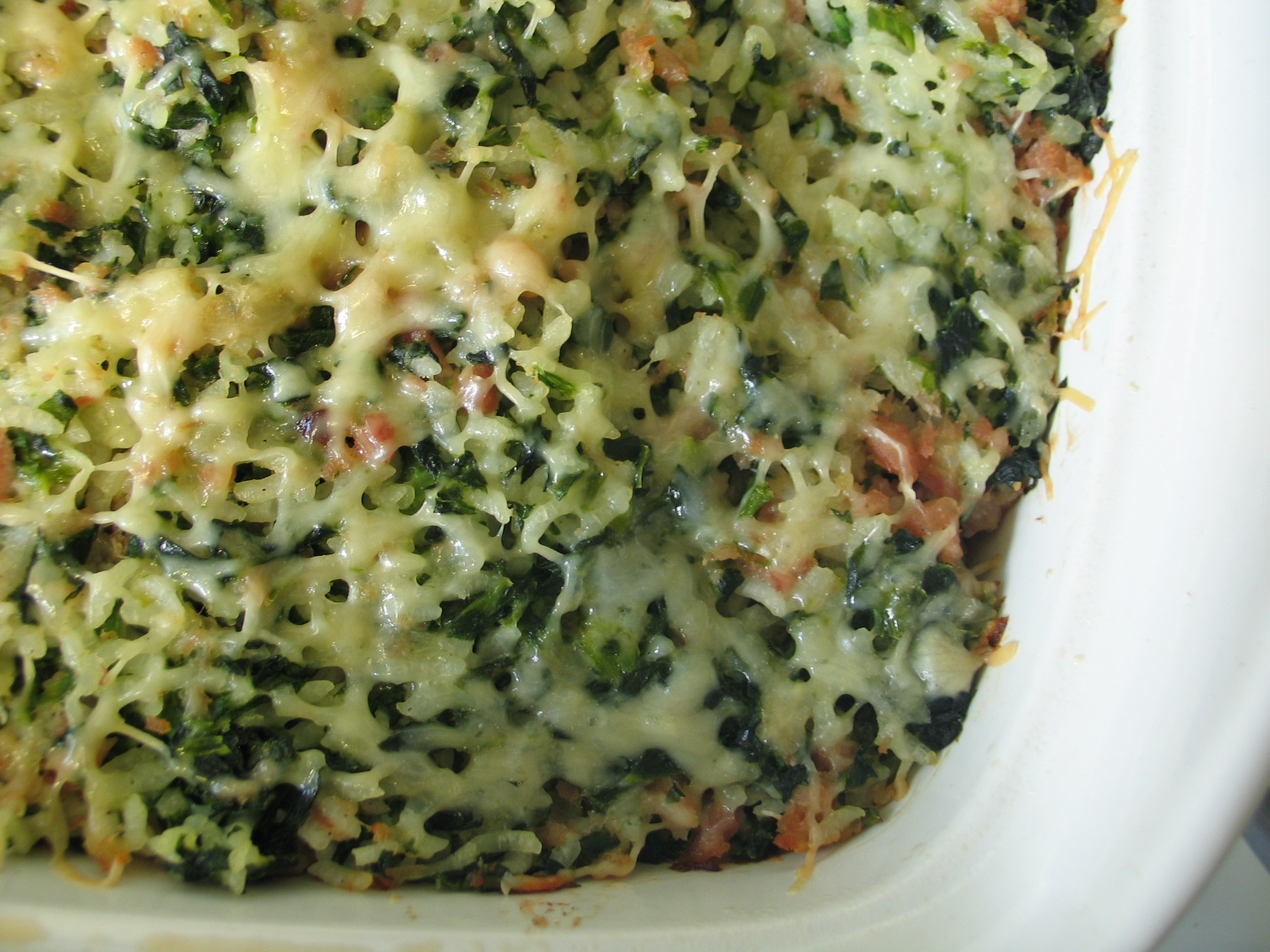 spinach rice casserole spinach rice gratin spinach and rice casserole ...