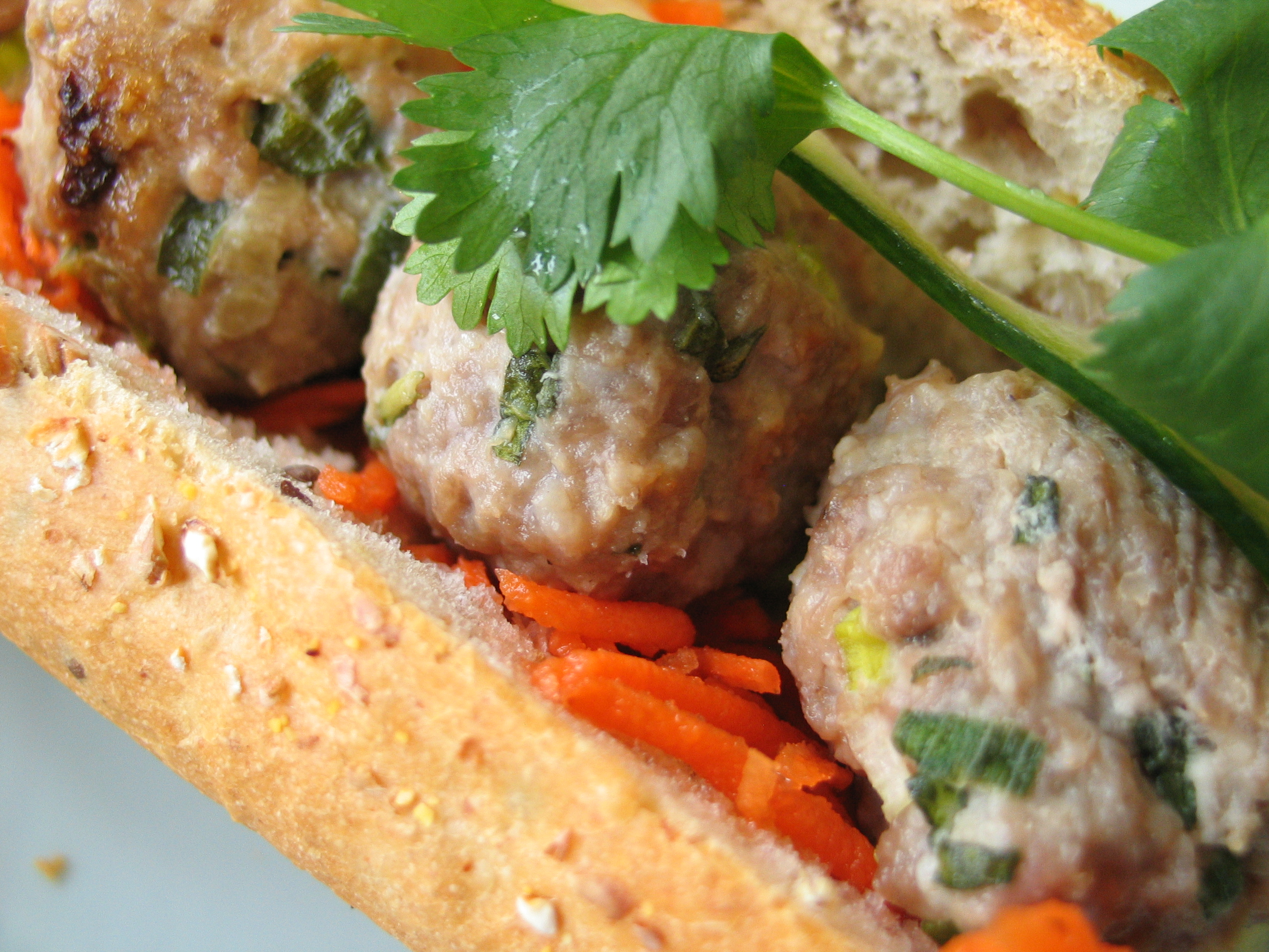 Pork Meatballs (for Vietnamese Subs!)