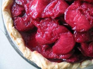 Roasted Plum and Mascarpone Pie