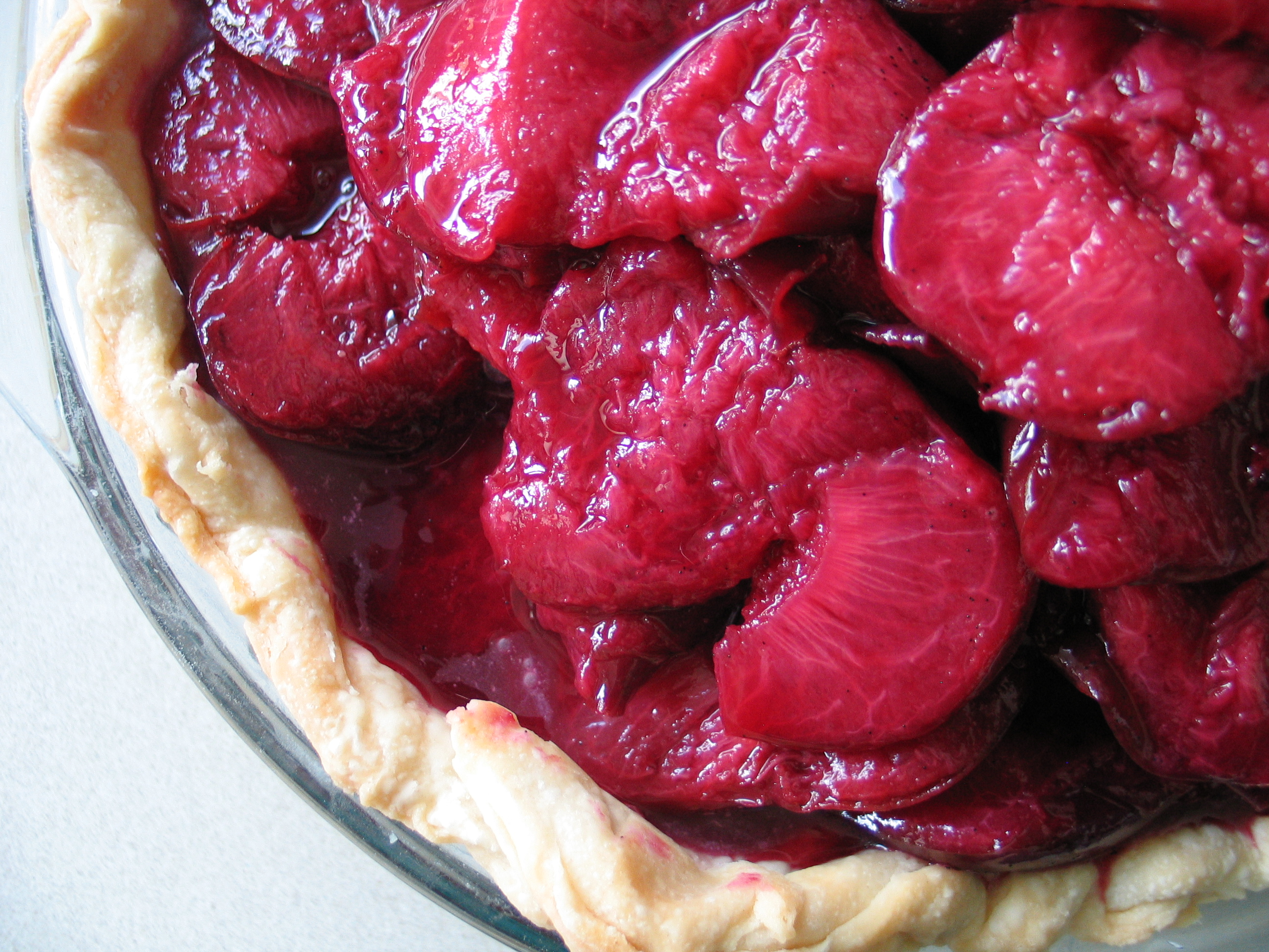 Deanna's Daughter | Roasted Plum and Mascarpone Pie