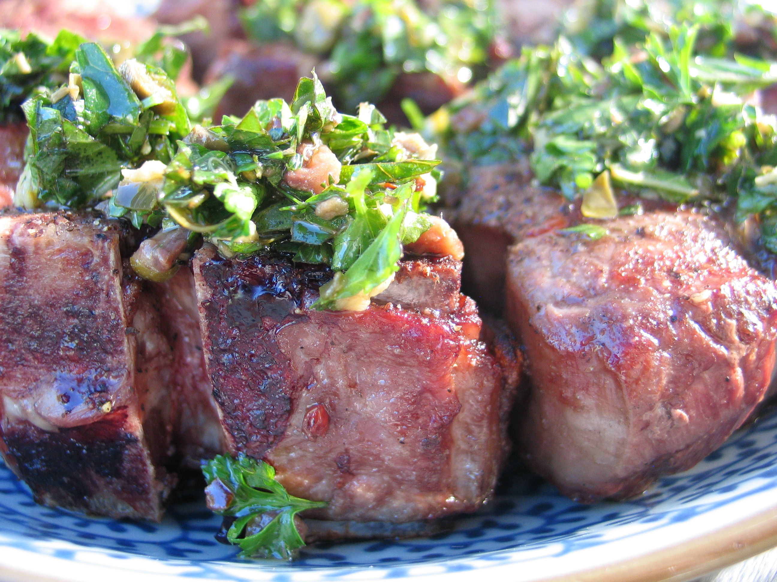 Deanna's Daughter | Lamb Chops with Mint Salsa Verde